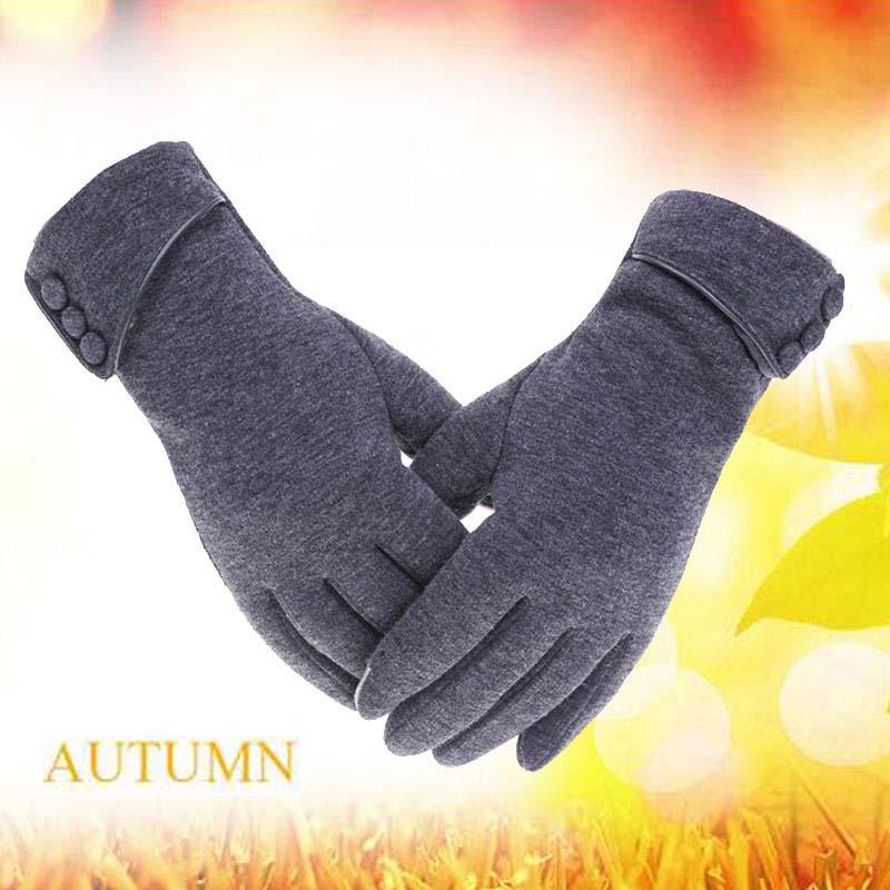 保暖抓绒手套 不倒绒手套女触屏手套骑车手套C40