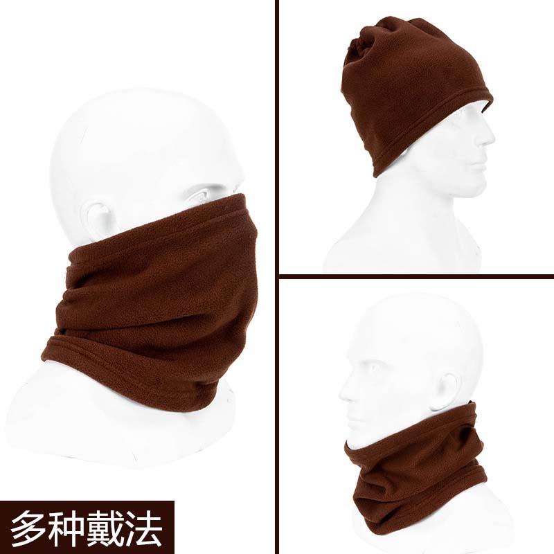 户外多功能围巾抓绒摇粒绒围脖帽子5819