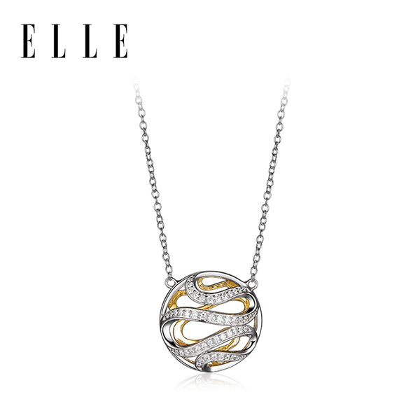 ELLE  Moon Shadow系列奥斯汀气质时尚锁骨链饰品2019新款 3104100T 黄色