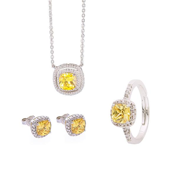 ELLE黄水晶时尚欧美套装 9002200 玫瑰金