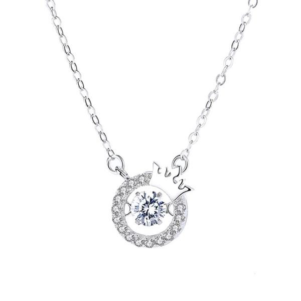 ELLE饰品Snowflake系列Coral卡洛儿925银项链 3205100A 银色