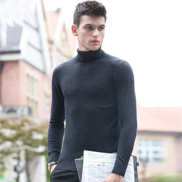 品彩男士高领修身秋冬秋衣发热纤维打底衫