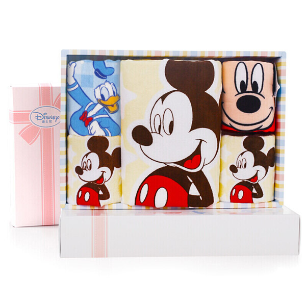 Disney迪士尼米奇毛浴巾5件套礼盒25*25cm*20g