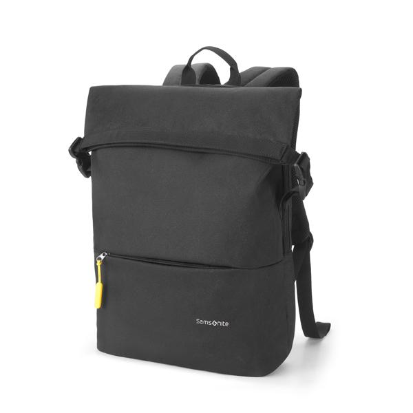新秀丽Samsonite双肩包  商务通勤电脑包 大容量舒适休闲背包TR1*09001黑色