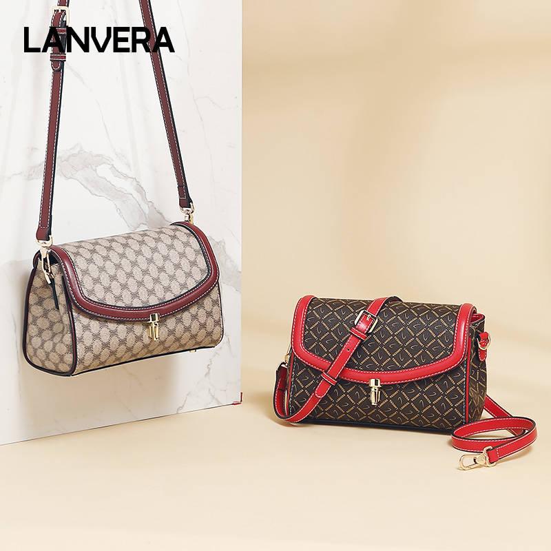 Lanvera朗薇  L8722女士包包新款休闲时尚中年女包百搭妈妈包单肩包斜挎小包包