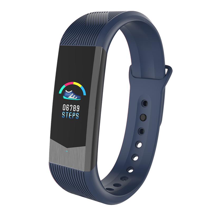 博之轮(BOZLUN)智能手表男运动手环 3D彩屏UI心率血压检测时尚学生电子手环表 B30