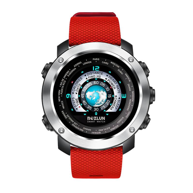 博之轮 手表男士3D动感彩屏运动计步防水心率睡眠监测智能电子表圆屏蓝牙多功能手环 W30