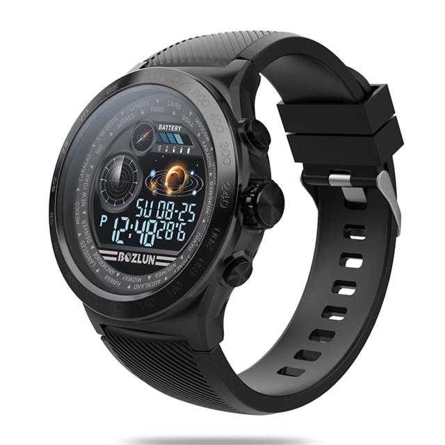 博之轮(BOZLUN)智能手表男士多功能户外运动登山计步心率信息提醒 W31