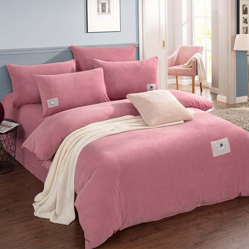 金丝莉 除湿毛绒套件 天鹅绒套件 床上用品套件 梦之恋