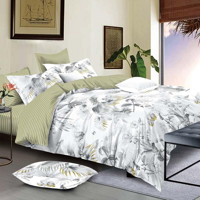 金丝莉 抗菌全棉套件 双人被套 四季可用四件套 床上用品四件套 格雷迪