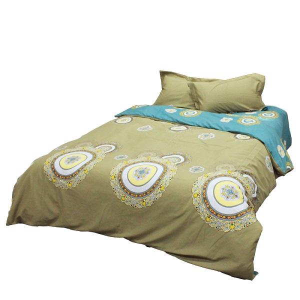 金丝莉 抗菌全棉磨毛套件 全棉四件套 床上用品套件 双人被套床单套件  菲迅