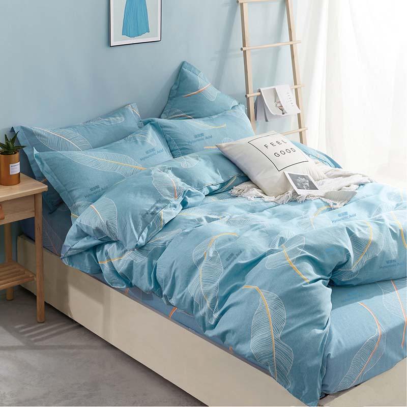 金丝莉 玻尿酸全棉套件 玻尿酸四件套 床上用品套件双人被套 安娜尔