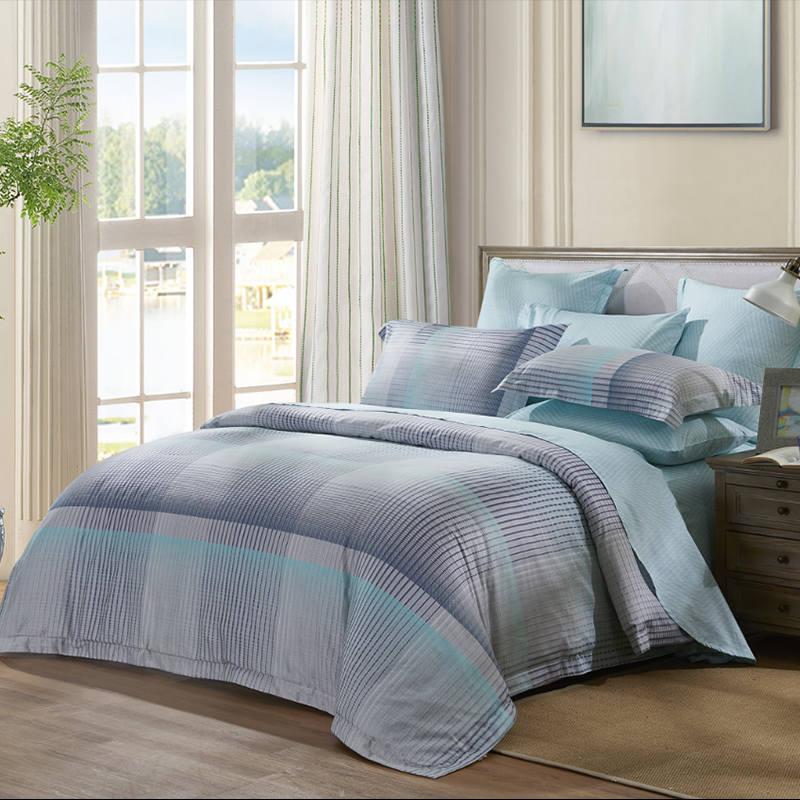 罗莱 全棉印花四件套 全棉亲肤四件套 纯棉床单被套 漫调生活 VF7983