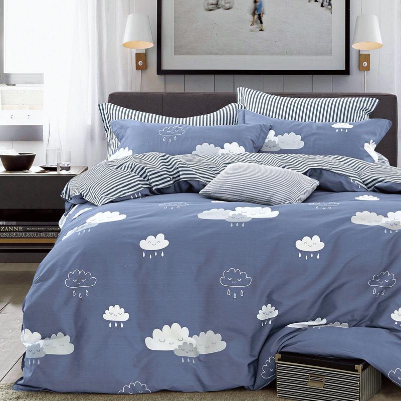 金丝莉 喜爱全棉套件 全棉四件套 床上用品四件套 学生寝室四件套 雨过天晴