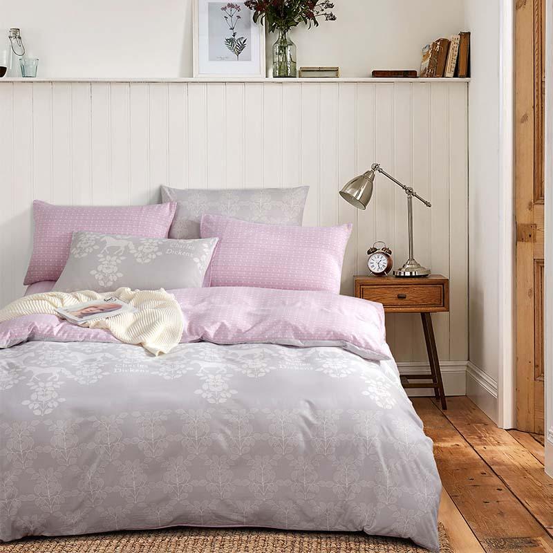 金丝莉 好睡眠水洗套件 双人被套 四季可用四件套 床上用品四件套  云中花海