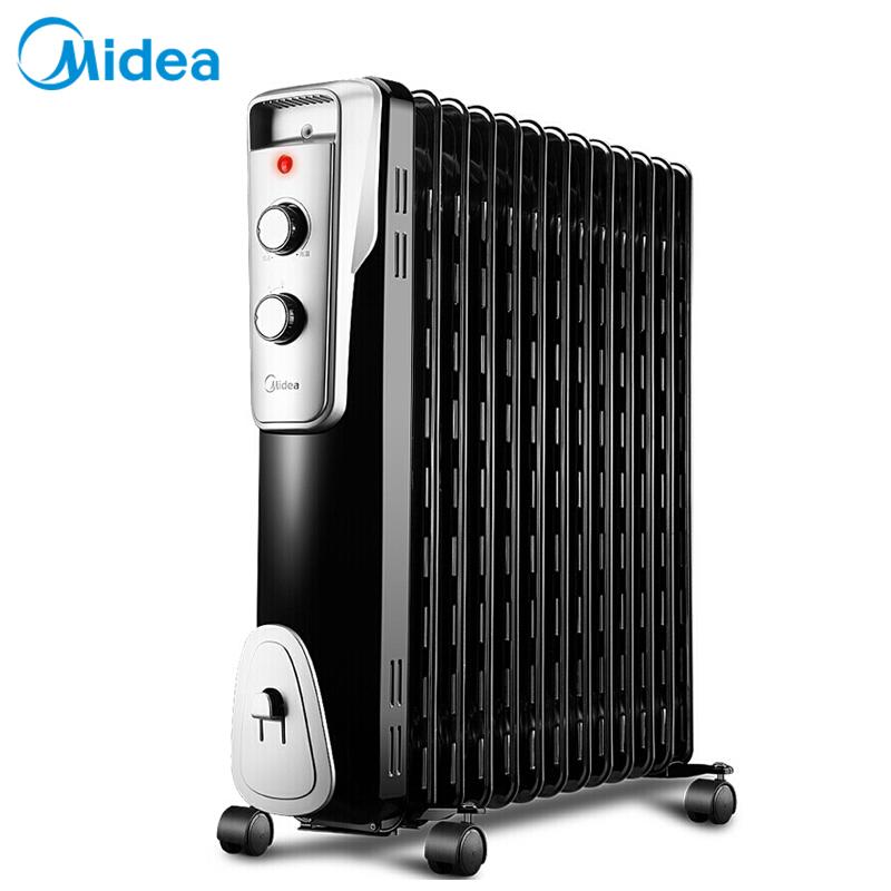 美的(Midea)NY2513-16J1W  电热油汀 取暖器家用节能省电 电暖器暖风机黑色