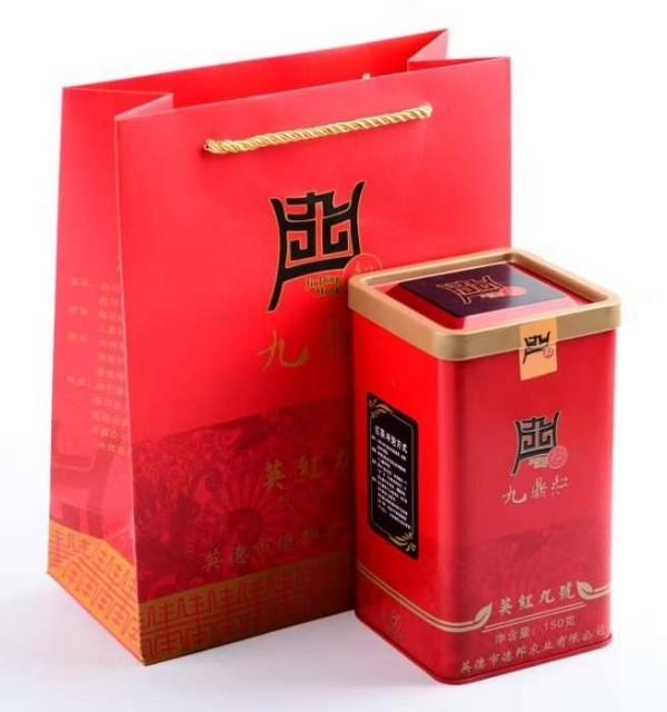 九鼎英德红茶红英红九号150g罐装家庭实惠茶叶(2包*75g)