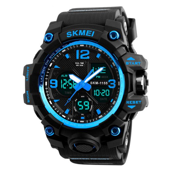 时刻美Skmei男士大防水电子手表时尚多功能户外运动腕表运动表高档手表1155B