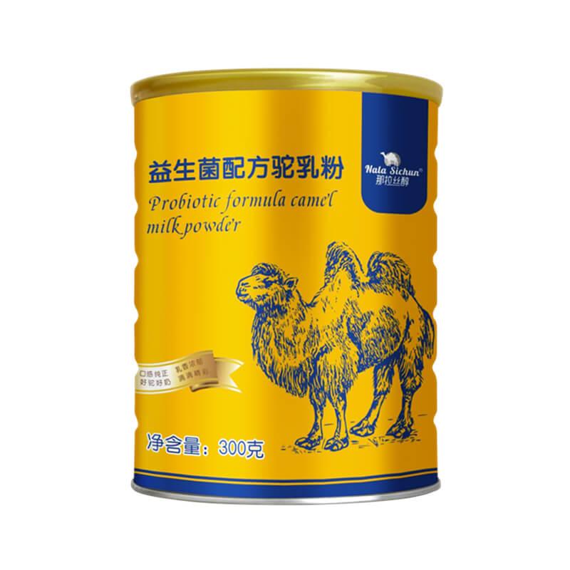 正品骆驼奶粉新疆伊犁益生菌驼奶粉新鲜纯驼奶官方那拉丝醇300g/罐