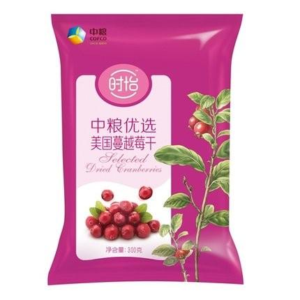 【顺丰发货】时怡 中粮优选美国蔓越莓干(袋装 300g)(满79元包邮)