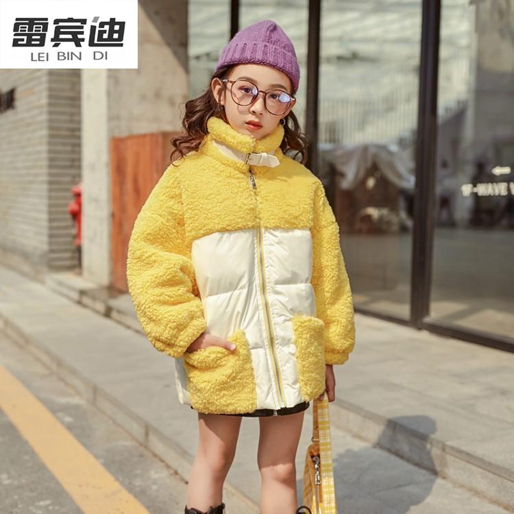 LEIBINDI/雷宾迪秋冬新款女童拼接外套韩版中大童休闲童装wt427