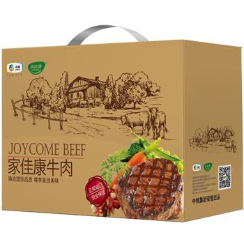 中粮家佳康进口牛排礼盒H款3090g