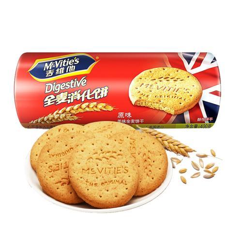 【中粮】麦维他原味全麦消化饼400g(英国进口 袋)