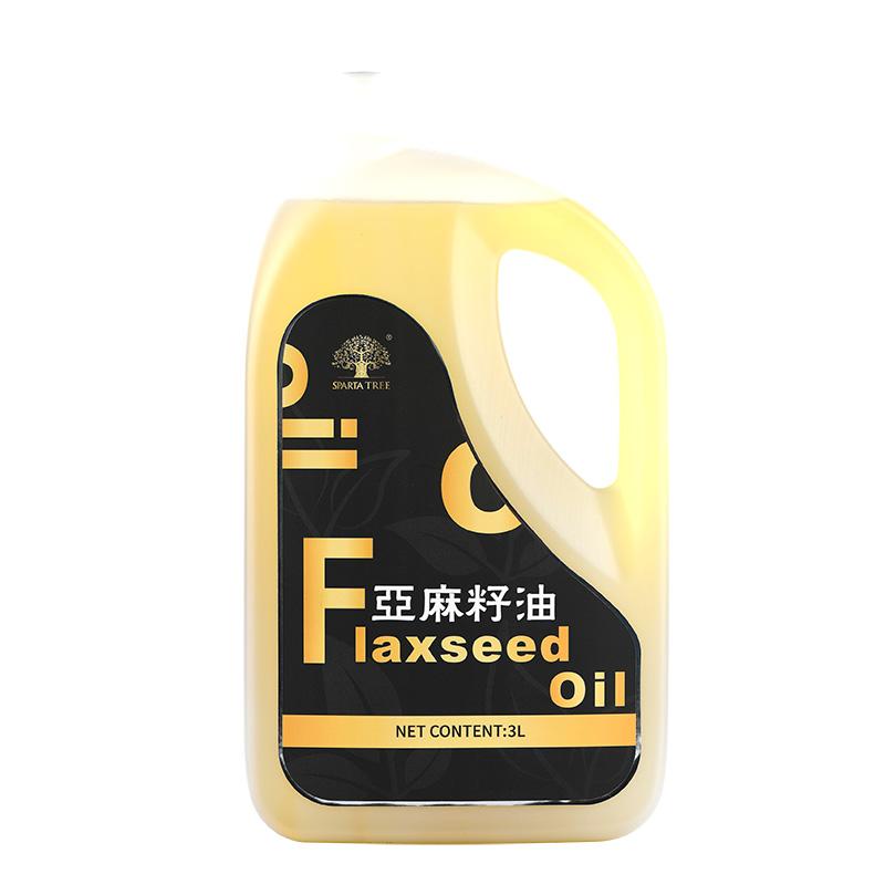 黄金树亚麻籽油 物理压榨食用油植物油 3L瓶装(香港条码)