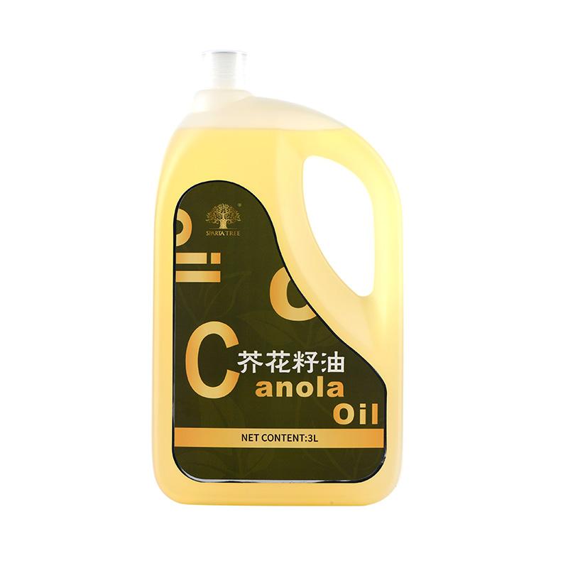 黄金树 进口食用油 植物油 低温压榨 营养充分芥花籽油3L(香港条码)
