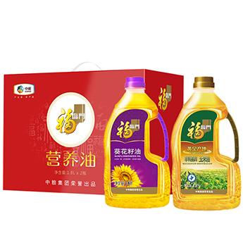 中粮福临门营养油礼盒 1.8L*2