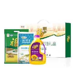中粮福临门米面油礼盒5kg+1.8L