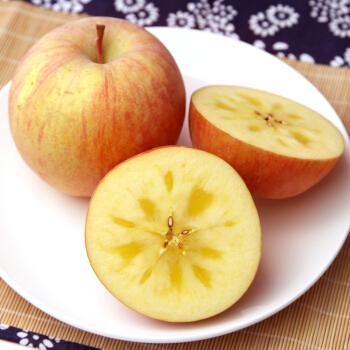 大漠蜜语 新鲜水果 红旗坡冰糖心苹果 新疆阿克苏苹果 阿克苏冰糖心苹果 果径70-79# 净重5.3斤 大约12个 普通装
