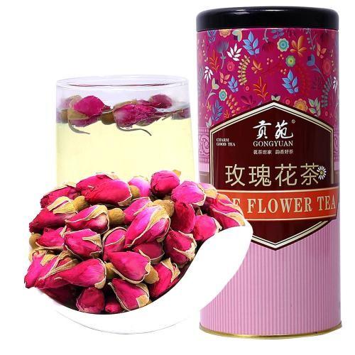 【顺丰发货】贡苑 玫瑰花茶 102g/罐(满79元包邮)