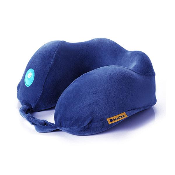 蓝旅(TRAVEL BLUE)按摩颈椎记忆棉u型枕 轻振动便携护颈枕飞机旅行枕汽车高铁办公室午休头枕217
