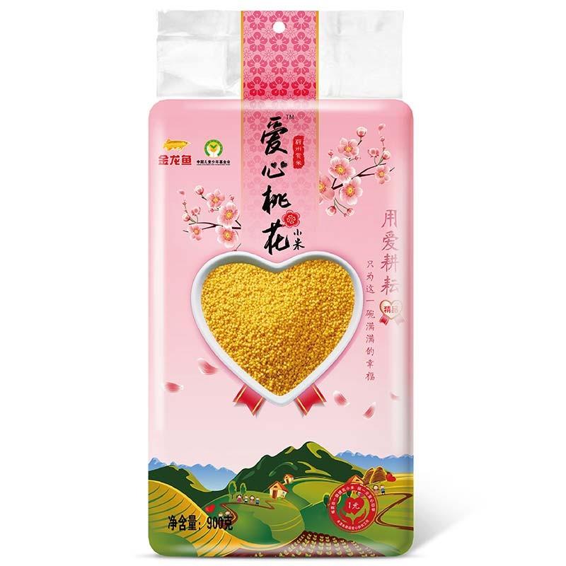 小米 金龙鱼爱心桃花小米 900g 月子米小米粥杂粮真空装粮油大米搭档宝宝粥