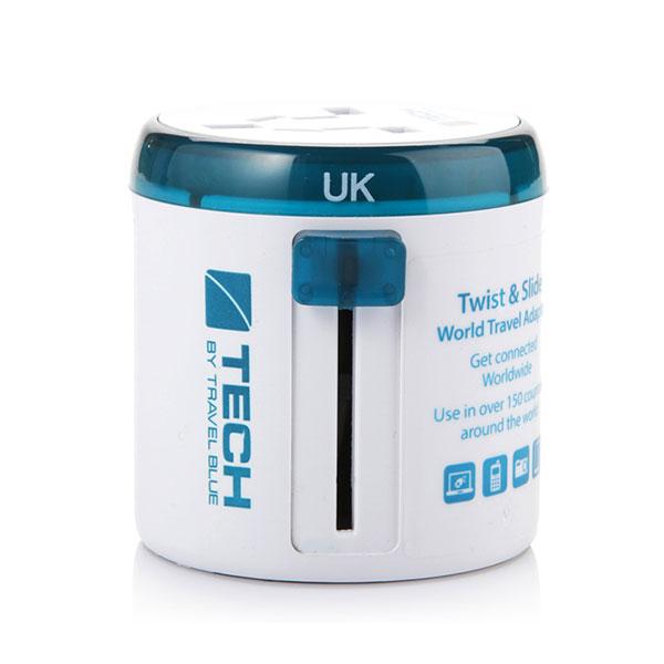 蓝旅(TRAVEL BLUE) 全球通用转换插头 出国旅行多功能电源转换插座双USB充电 260不带USB(不接地)