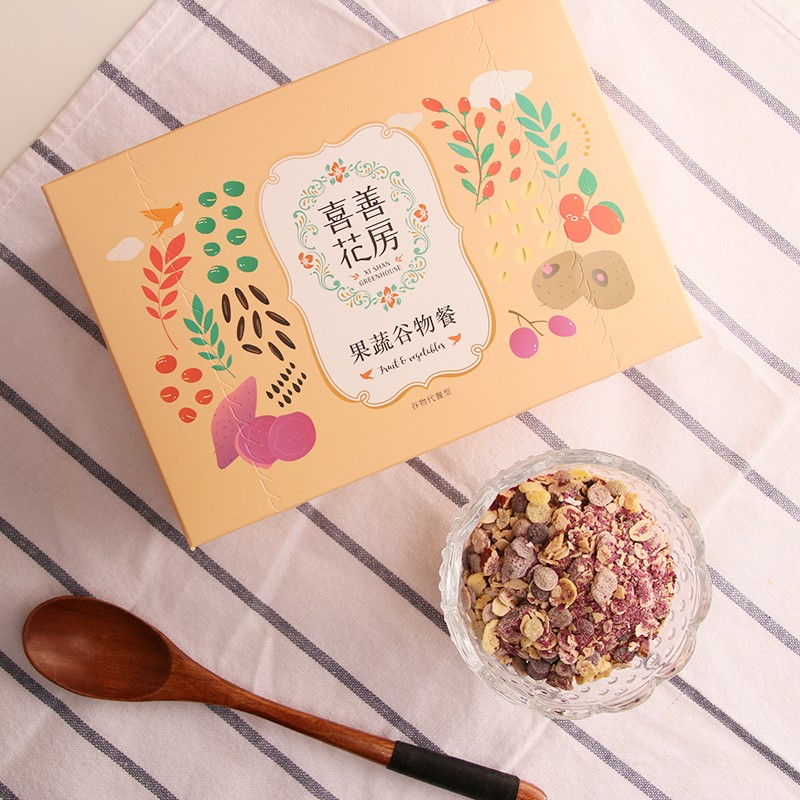 喜善花房 早餐食品营养冲饮魔芋代餐粥代餐粉果蔬纤维五谷杂粮饱腹食品 500g/盒