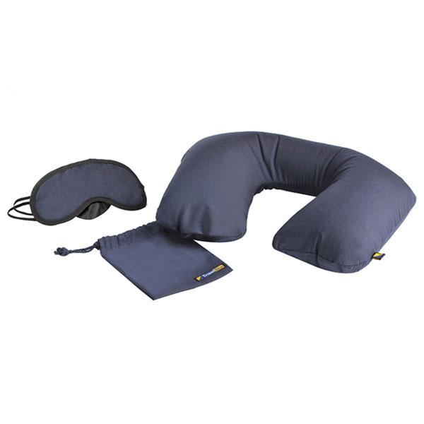 蓝旅(TRAVEL BLUE)充气枕头眼罩套装 护颈旅行u型枕 适用旅行飞机高铁汽车223
