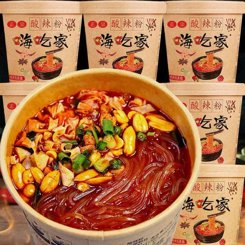 嗨吃家酸辣粉6桶正宗桶装整箱网红粉丝乐海吃族人速食 一箱