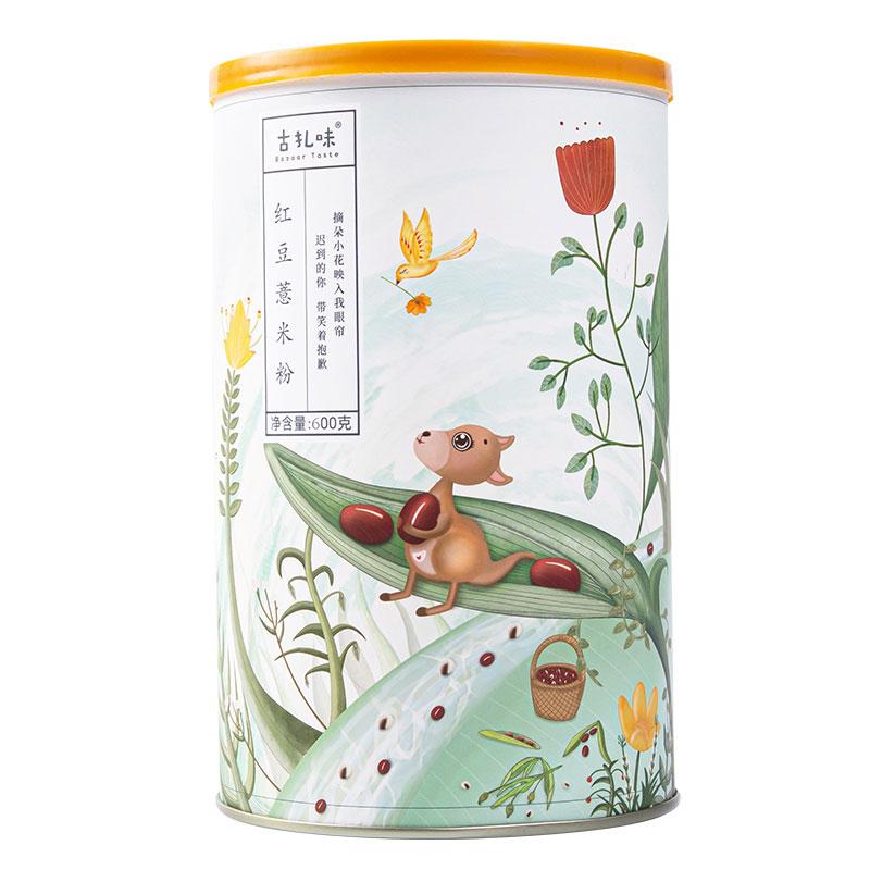 古扎味红豆薏米粉600g 薏仁五谷杂粮粉 代餐粥冲饮谷物早餐冲泡 罐装
