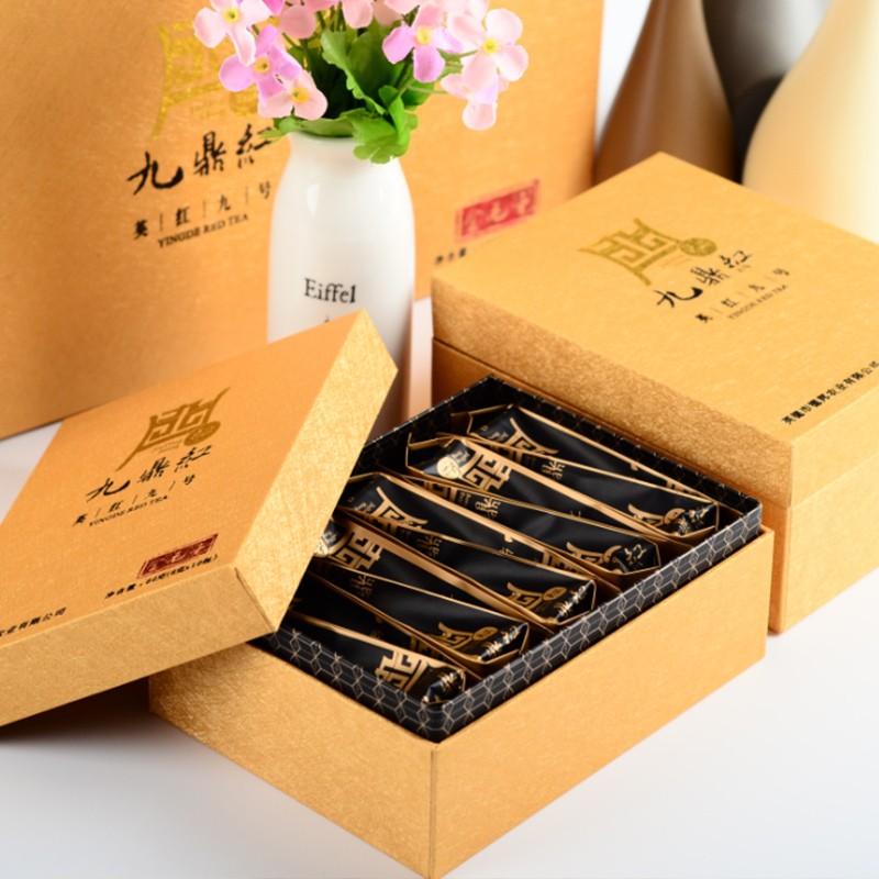 红茶茶叶广东英德红茶九鼎红金毛毫150克礼盒装(25包*6g)