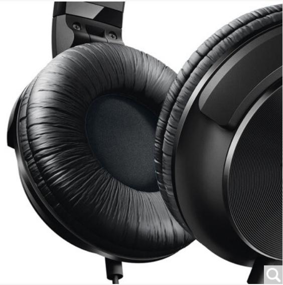 (送5A数据线)飞利浦(PHILIPS)耳机 头戴式 高保真音乐耳机 有线 监听耳机 带麦克风 音乐 清晰通话 SHL3065BK