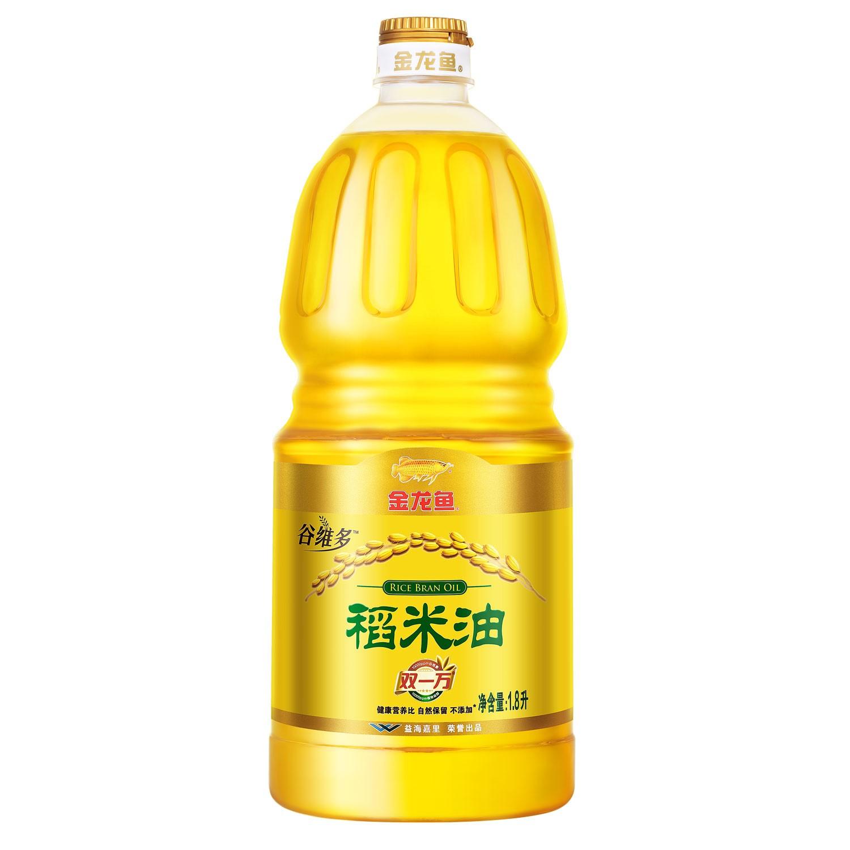 稻米油 双10000谷维素 金龙鱼稻米油 1.8L*2