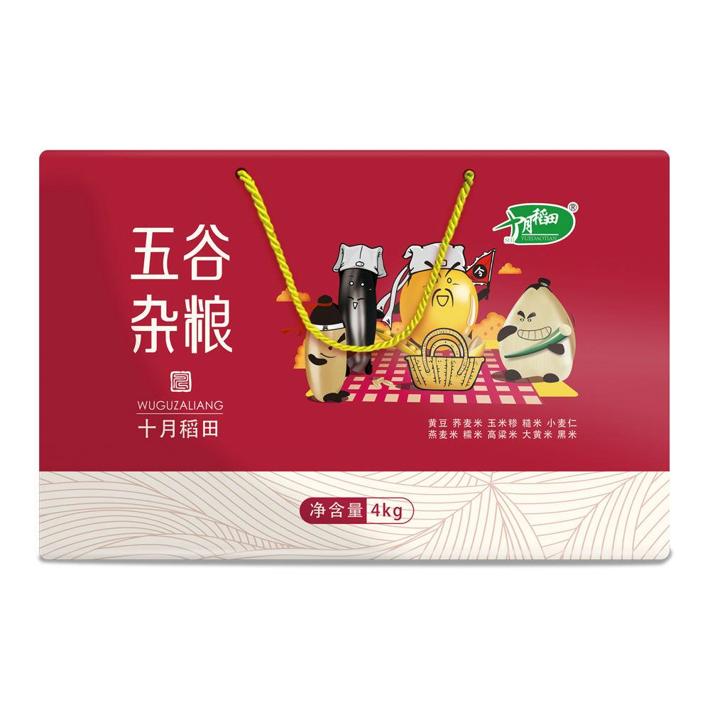 十月稻田 五谷杂粮4kg礼盒