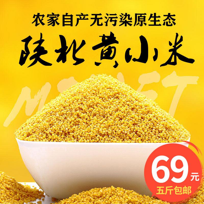 陕北特产农家黄小米5斤装月子米当年精选新米