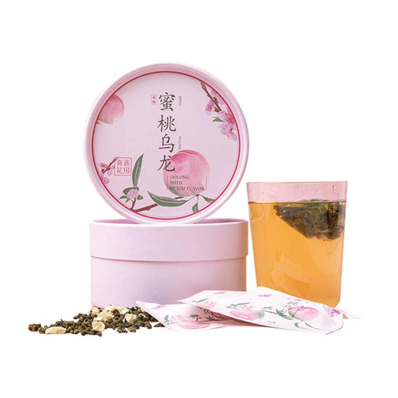 喜善花房蜜桃乌龙茶日本乌龙水果 茶三角茶包冷泡茶 袋泡茶36g/盒