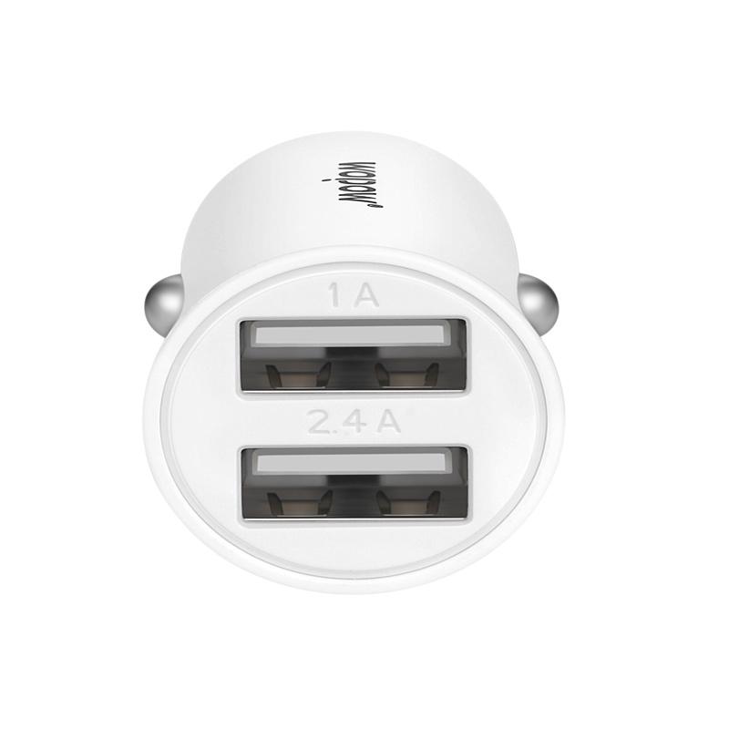 wopow/沃品 CD011 车载充电器/快充/稳定/双u充电接口 白色