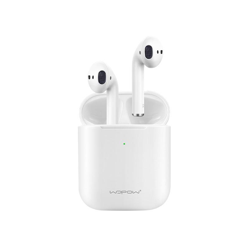 沃品(WOPOW)MAX01真无线蓝牙耳机 智能触控 自动弹窗无线充版 安卓/苹果手机通用 白色