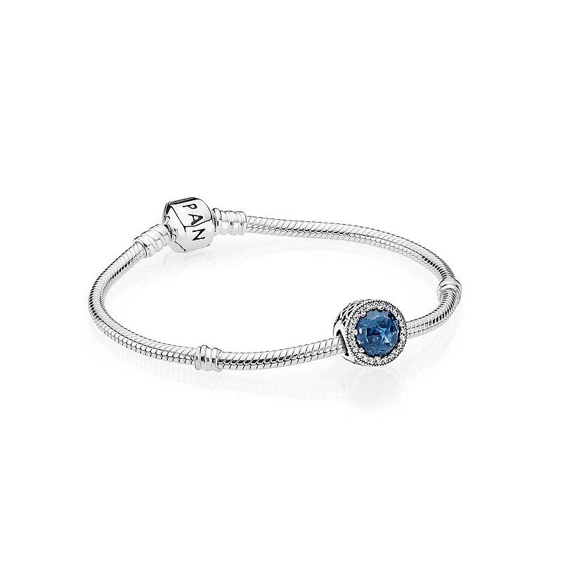 Pandora潘多拉 醉人月夜蓝色时尚手链个性创意DIY设计ZT0095