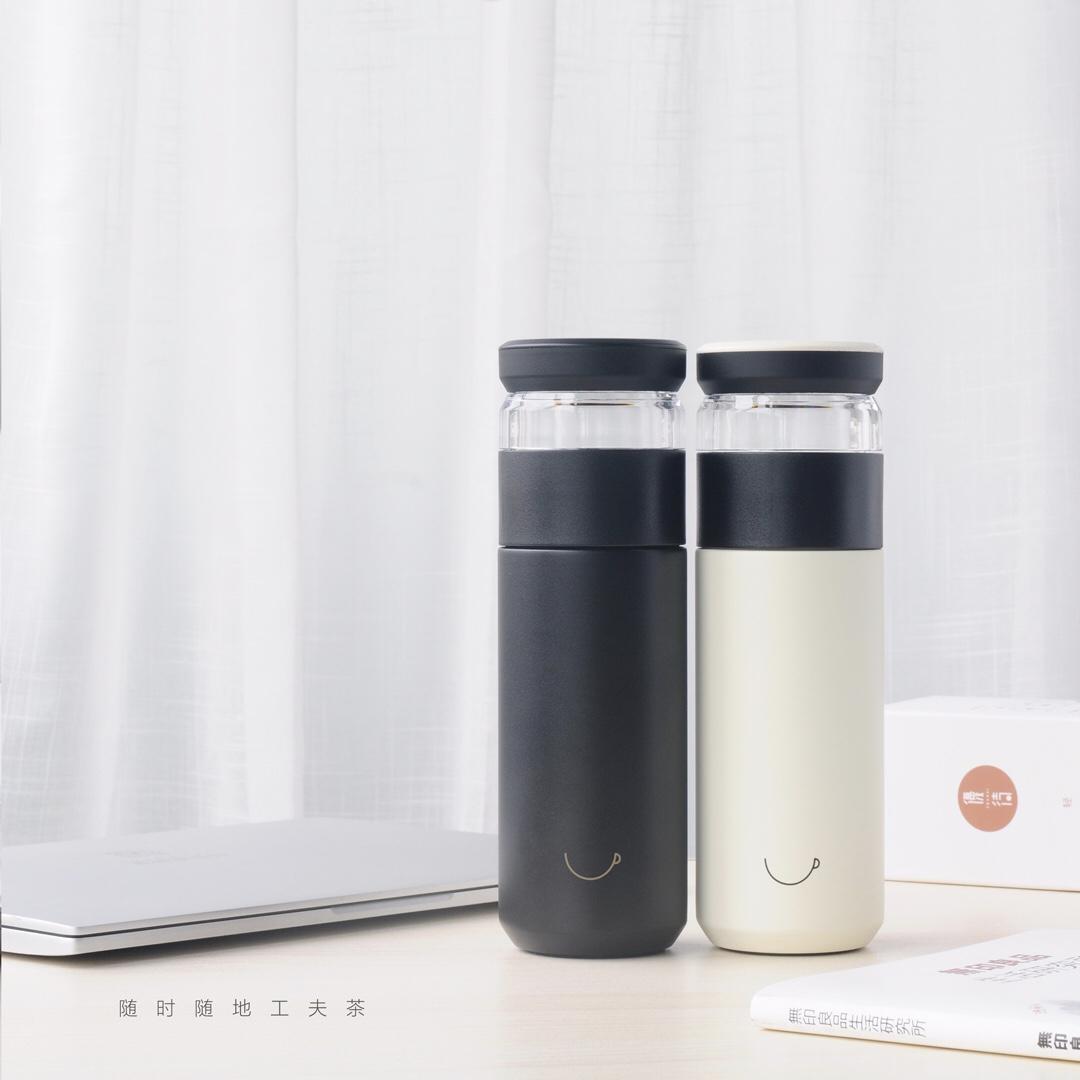 茗日星 泡茶杯茶水分离不锈钢保温杯企业定制